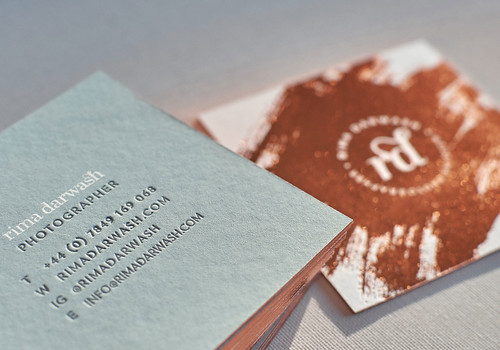 Copper Foiled Square Business Card