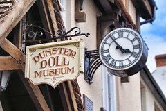 Dunster - Memorial Hall Doll Museum and Millennial Clock