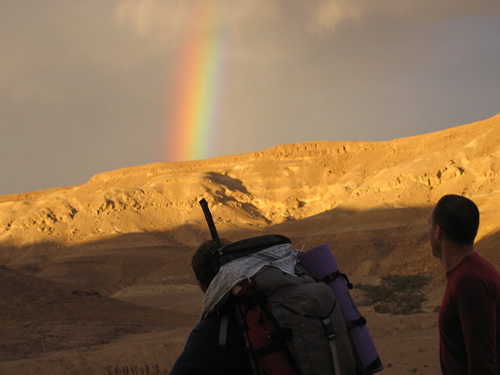 Rainbow at the AKBAN desert gathering