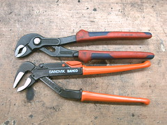 Knipex + Sandvik Bahco water pump pliers