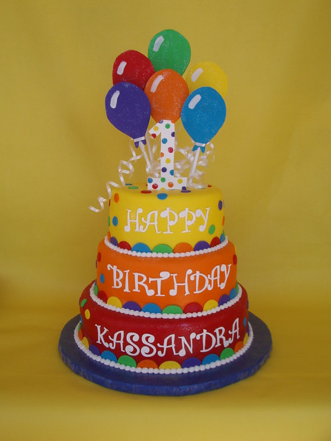 Balloon Themed Birthday Cake Flickr - Photo Sharing!
