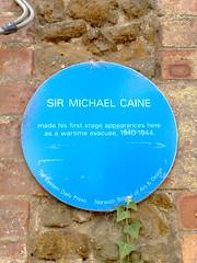 Photo of Michael Caine blue plaque