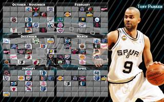 2009-2010 Spurs Schedule - Tony Parker