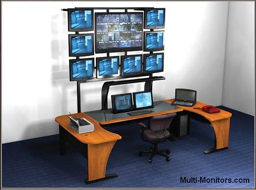 Multiple-Screen-Computer-Workstation-Desktop-Desk-and-Multi-Monitor