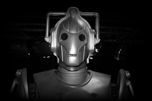 Cyberman attack - run! by Stocker Images
