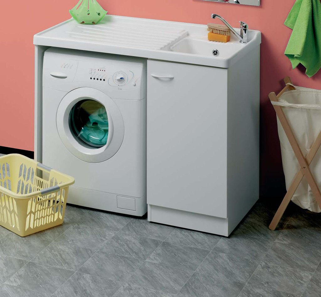 lavatoio - lavapanni -pilozza lavello coprilavatrice portalavatrice mis.124x60  eBay