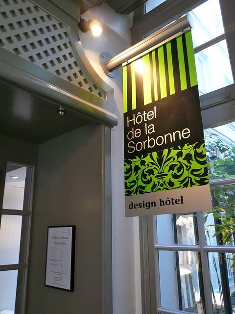 Entr e h tel design sorbonne for Design sorbonne hotel