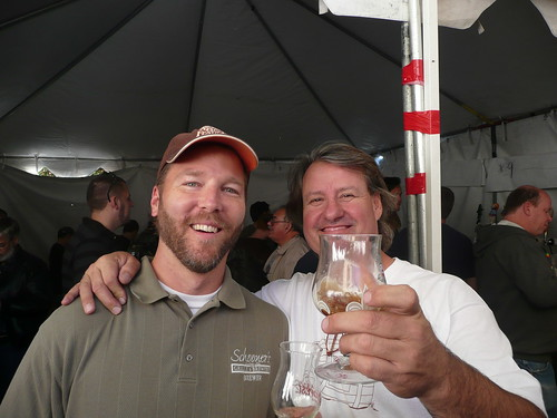 Craig Cauwels, from Schooner's, with Vic Krajl