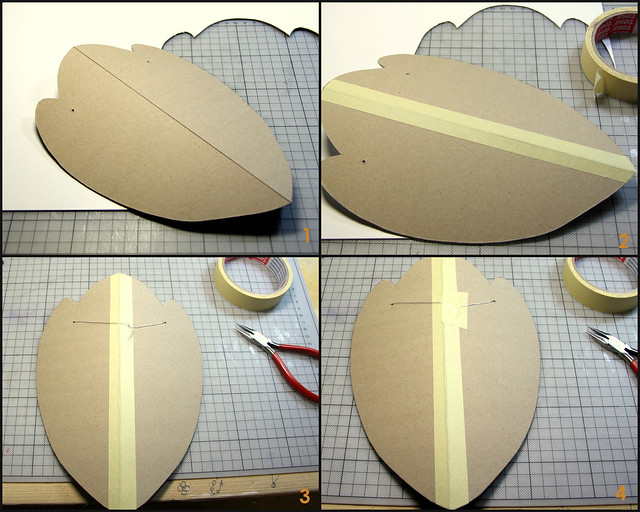 Tutorial for cardboard necklace hanger-1