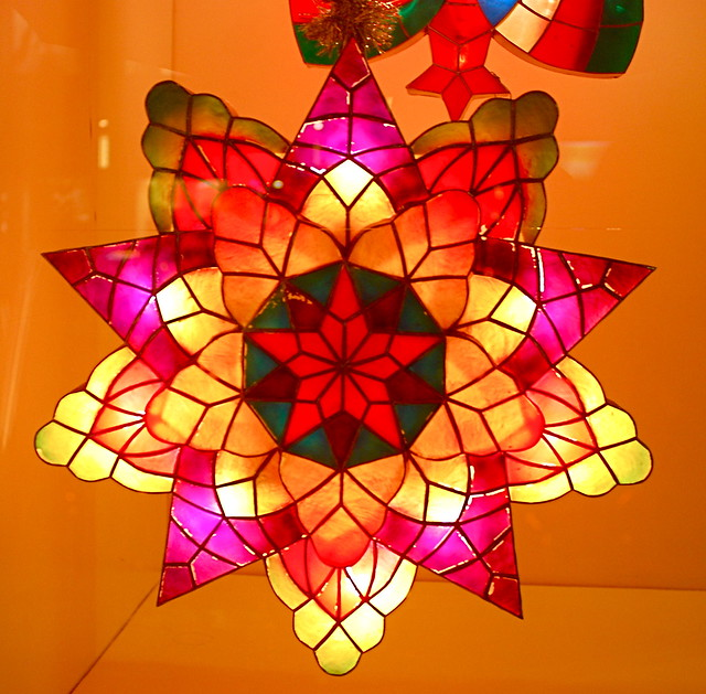 Philippine Capiz Shell Christmas Lanterns (Parol) at the Philippine Center, Stars of Hope on Fifth