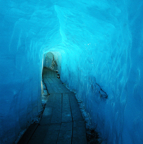 Under the Ice grotto of the Rhones Glacier