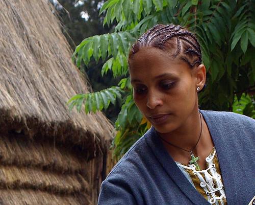 Camarera en el Lucy (Addis Abeba)