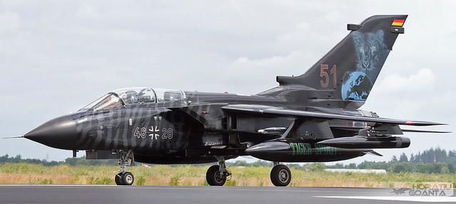 Panavia Tornado ECR 46+28 Luftwaffe   NATO Tiger Meet Schleswig Jagel 2014