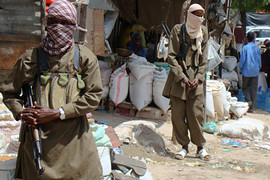 Somali resistance fighters kidnapped two French nationals acting as security advisers to the western-backed government. The Al-Shabaab Islamic organizations has seized control of large sections of the south and central regions of the country. by Pan-African News Wire File Photos