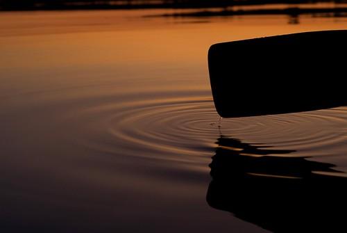 sunset ontario water silhouette paddle canoe drip splash tobermory cameronlake hpccanada
