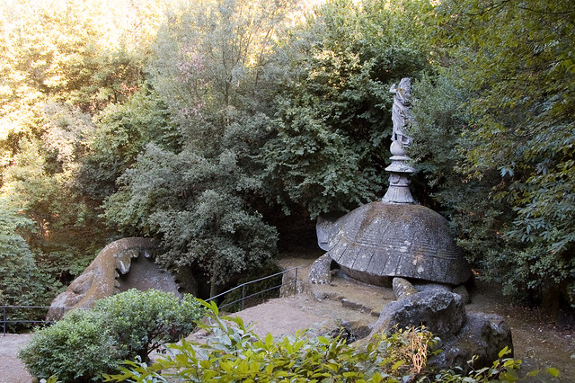 Weird Italy 3905068330_97cc9a70df_z Gardens of Bomarzo, Arcane Park of the Monsters Featured Italian History Magazine What to see in Italy  Viterbo Pier Francesco Orsini Park of the Monsters manieristic garden Lazio Garden of Bomarzo