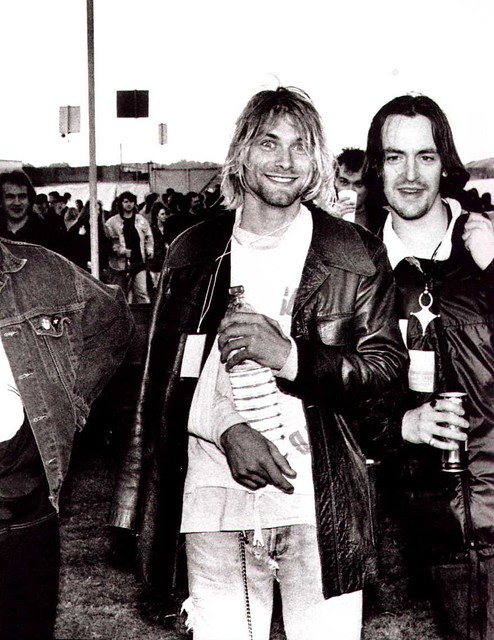 Kurt Cobain And Eugene Kelly At The Reading Festival 1991