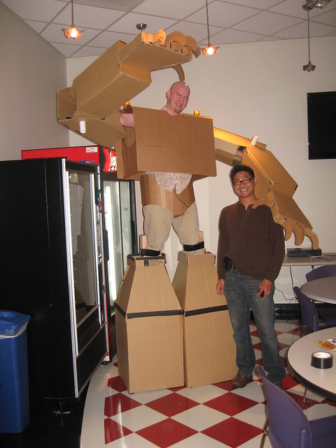 Cardboard Suit at the Gazillion Office