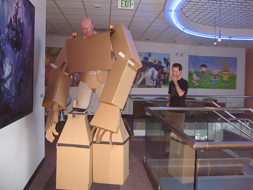 Cardboard Suit in the Office 43