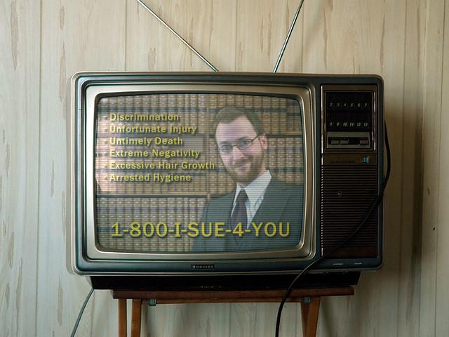 Fake US style lawyer 1-800-I-SUE-4-YOU