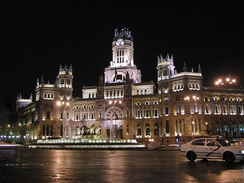 Elegant architecture of Madrid
