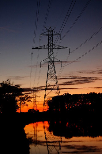 jeremystockwellpix nikond40 d40 sunset powerlines reflection nikon power supply powersupply cableicious cable cables