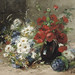"EUGÈNE HENRI CAUCHOIS (1850 - 1911) ""A summer-bouquet with poppies and daisies"""