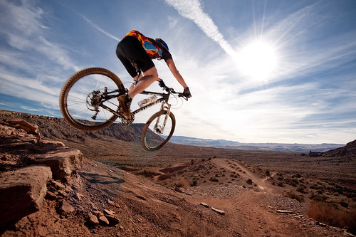 Mountain biking St. George, Utah.
