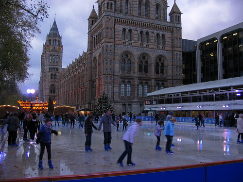Natural History Museum Ice Rink London England