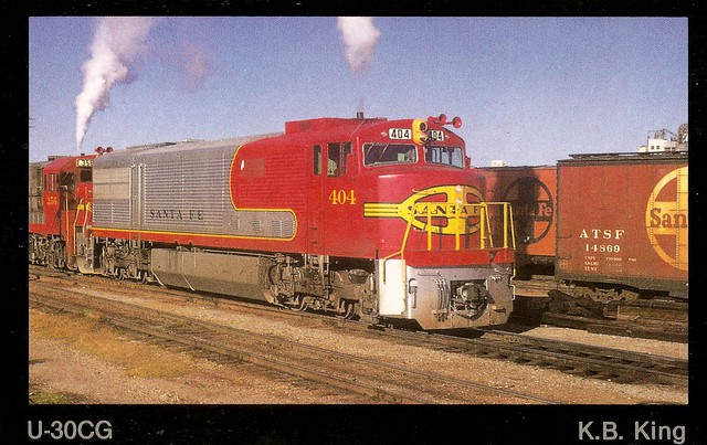 ATSF0020 U30CG No. 404 (K.B. King)