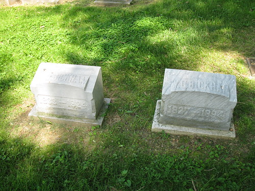 Maria and W. D. Bickham graves, Woodland Cemetery