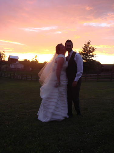 wedding sunset groom bride kiss farm missouri 365 project365 365days schwambellfest schwambell carolynschwartz jacobschwartz
