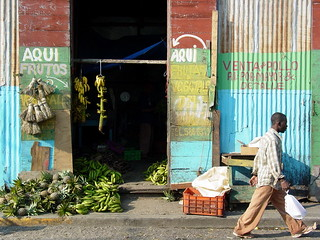 Street Scene with Pedestrian - Puerto Plata - Dominican Republic