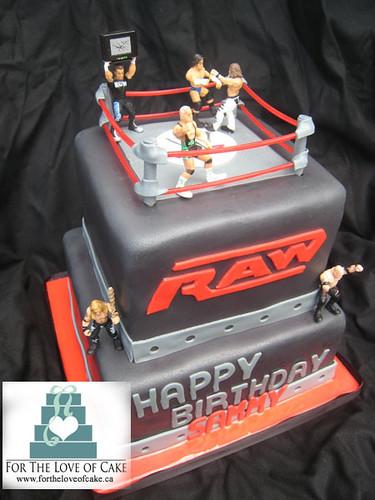 Bc4068 wwe boys birthday cake flickr photo sharing