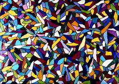 symmetry(0.0), window(0.0), flower(0.0), psychedelic art(0.0), kaleidoscope(0.0), glass(0.0), circle(0.0), art(1.0), pattern(1.0), mosaic(1.0), yellow(1.0), line(1.0), design(1.0), modern art(1.0),
