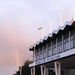 Rainbow over Ayr Racecourse