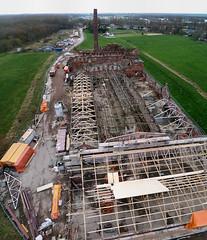 Strawboard factory 'de Toekomst' ('Future') being restored - panorama