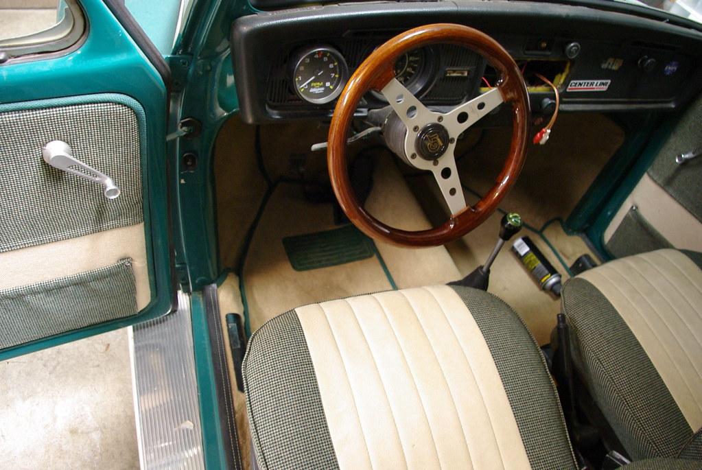 Front Seat, carpet, old dash