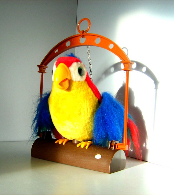 Bird Talking Toy : Pete repeat what you say talking parrot moving bird toy by