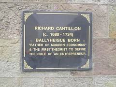 Photo of Richard Cantillon black plaque