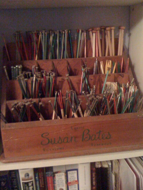 How To Store Knitting Needles : Old knitting needle store display needles came with the