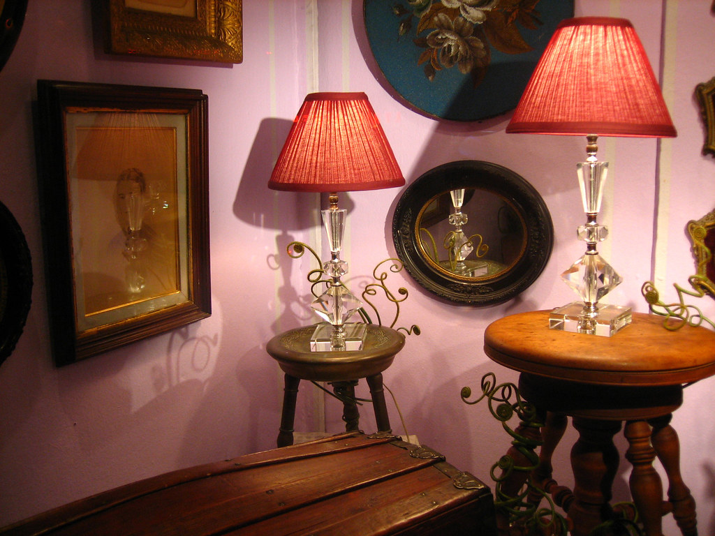 Cut Crystal Table Lamps Vintage Piano Stools Vintage
