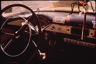 Automobile in the El Paso's Second Ward Neighborhood, 06/1972
