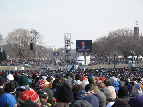The 44th President via Jumbotron