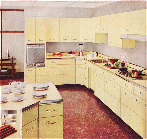 1955 Capitol Steel Kitchen - Yellow
