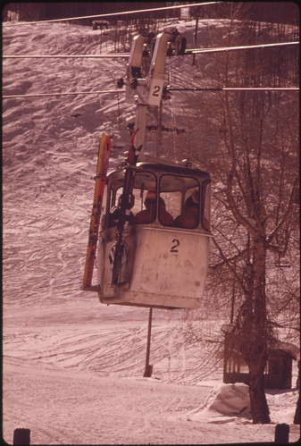 Aspen gondola, Colorado by Ron Hoffman