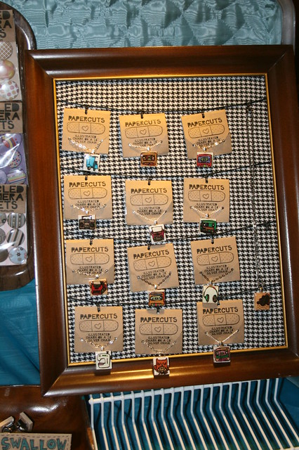 Diy craft show jewelry display flickr photo sharing for Display necklaces craft fair
