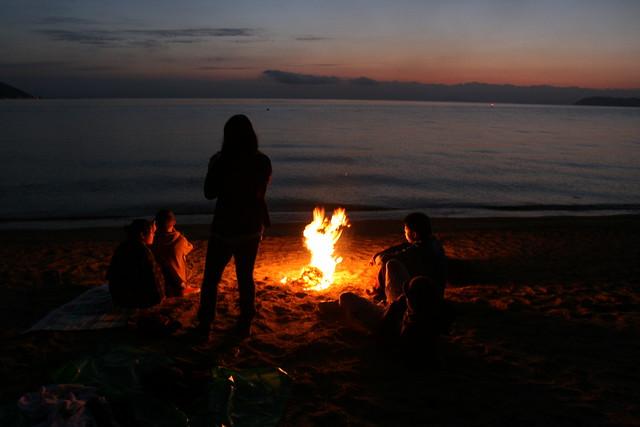 Sleeping under the stars at Lake Biwa
