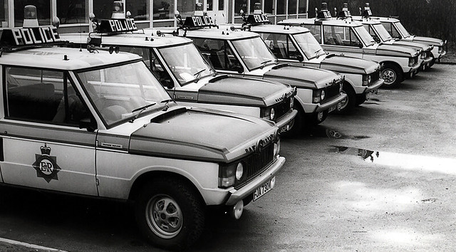 Range Rovers at Birch Motorway Post