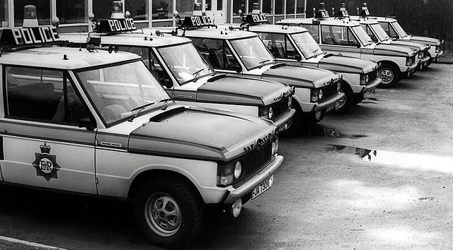 Range Rovers at Birch Motorway Post